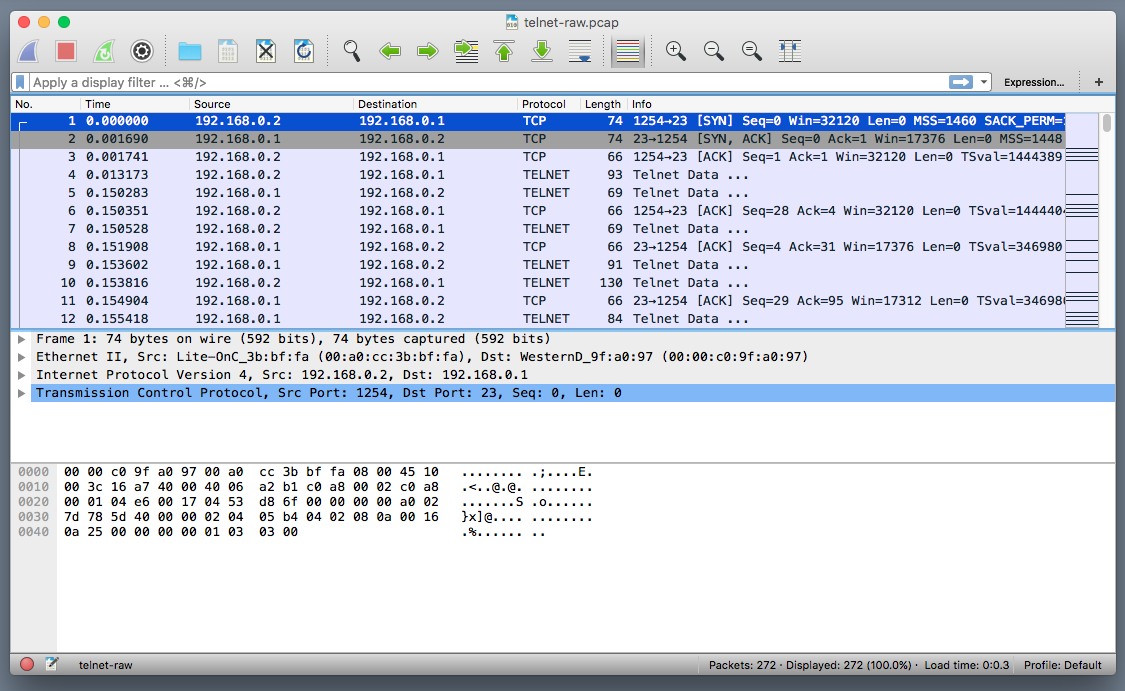 open-wireshark