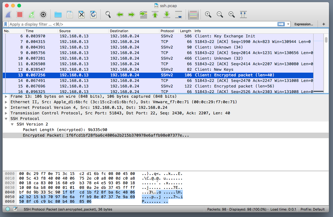 ssh-wireshark